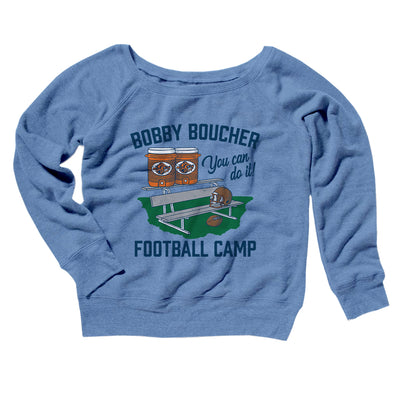 Bobby Boucher Football Camp Women's Off The Shoulder Sweatshirt - Famous IRL Funny and Ironic T-Shirts and Apparel