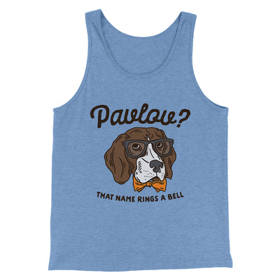 Pavlov's Dog Men/Unisex Tank-Blue TriBlend - Famous IRL