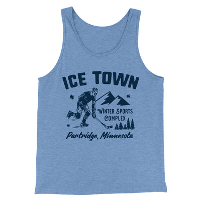 Ice Town Sports Complex Men/Unisex Tank-Blue TriBlend - Famous IRL
