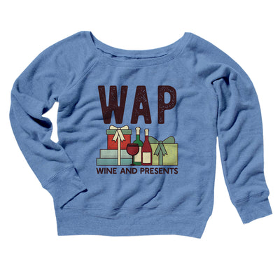 WAP- Wine & Presents Women's Scoopneck Sweatshirt