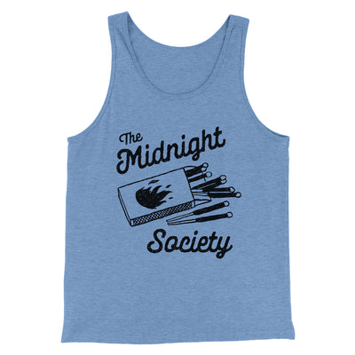 The Midnight Society Men/Unisex Tank-Tank Top-Printify-Blue TriBlend-S-Famous IRL
