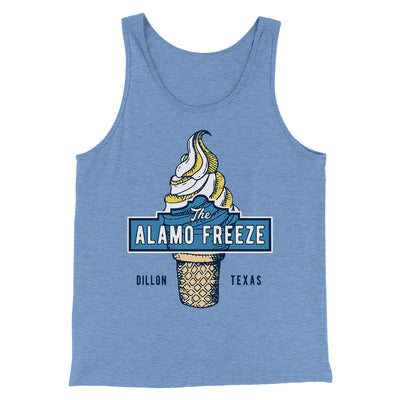 The Alamo Freeze Men/Unisex Tank-Blue TriBlend - Famous IRL