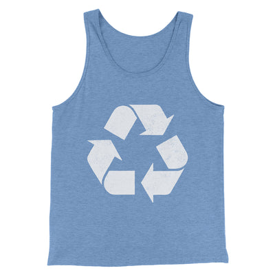 Recycle Symbol Men/Unisex Tank-Blue TriBlend - Famous IRL