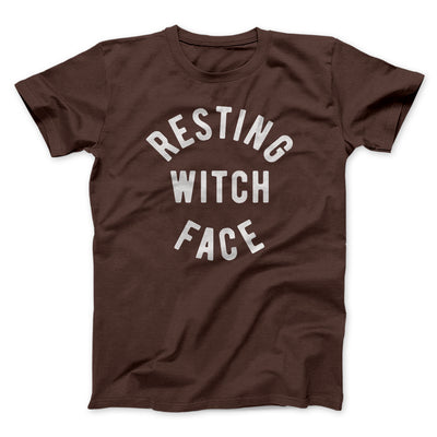 Resting Witch Face Men/Unisex T-Shirt-Brown - Famous IRL