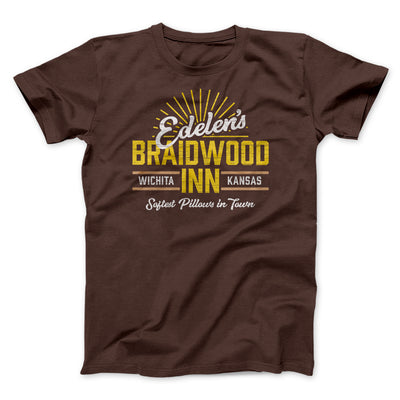 Edelen's Braidwood Inn Men/Unisex T-Shirt-Brown - Famous IRL