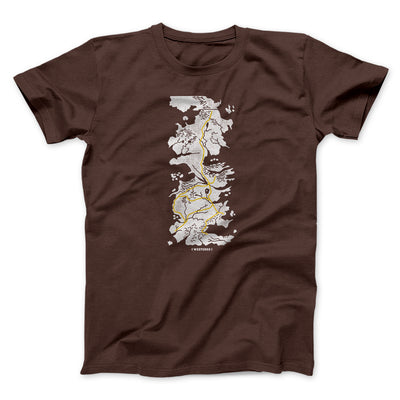 Map of Westeros Men/Unisex T-Shirt-Brown - Famous IRL