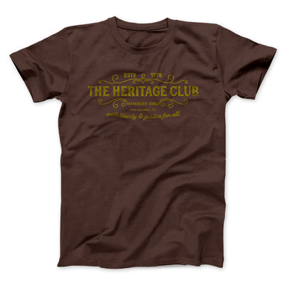 The Heritage Club Men/Unisex T-Shirt-Brown - Famous IRL