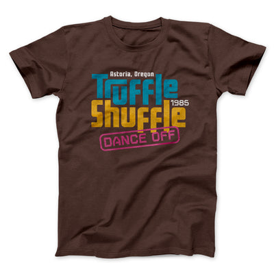 Truffle Shuffle Dance Off 1985 Men/Unisex T-Shirt-Brown - Famous IRL