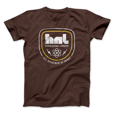 Hawkins National Laboratory Men/Unisex T-Shirt-Brown - Famous IRL