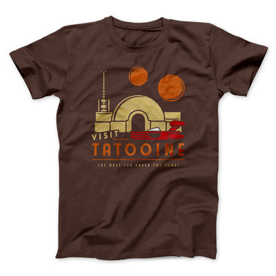 Visit Tatooine Men/Unisex T-Shirt-Brown - Famous IRL