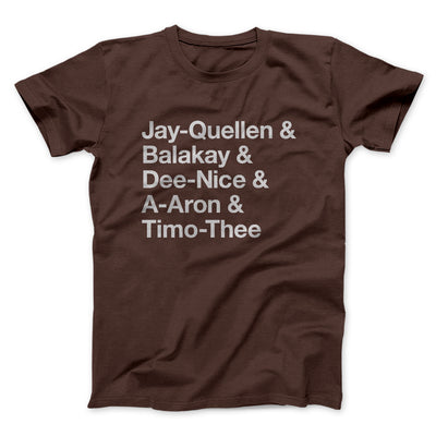Substitute Teacher Names Men/Unisex T-Shirt-Brown - Famous IRL