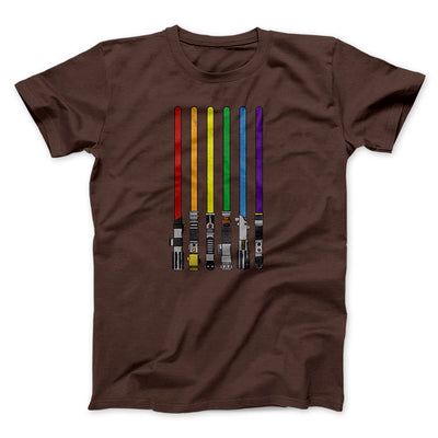 Lightsaber Color Rainbow Men/Unisex T-Shirt-Brown - Famous IRL