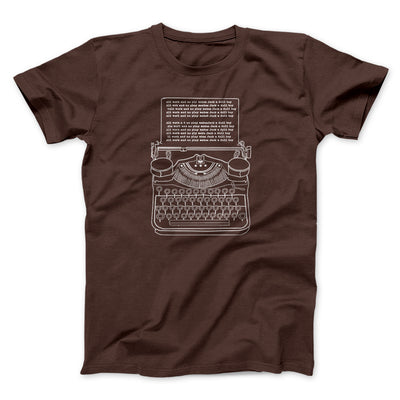 All Work and No Play Men/Unisex T-Shirt-Brown - Famous IRL