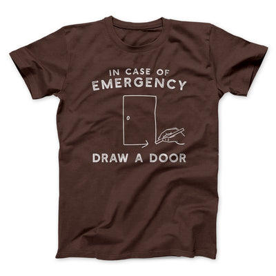 Draw a Door Men/Unisex T-Shirt-Brown - Famous IRL