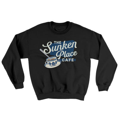 The Sunken Place Cafe Ugly Sweater-Sweatshirt-Printify-Black-L-Famous IRL