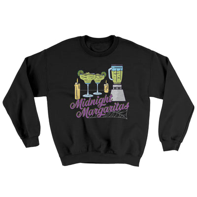 Midnight Margaritas Ugly Sweater-Sweatshirt-Printify-Black-L-Famous IRL