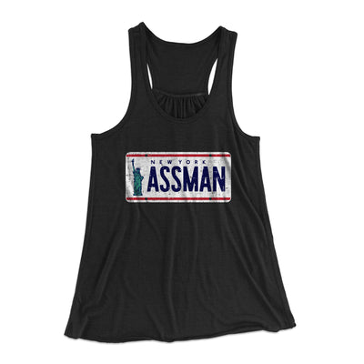 Assman Women's Flowey Racerback Tank Top - Famous IRL Funny and Ironic T-Shirts and Apparel