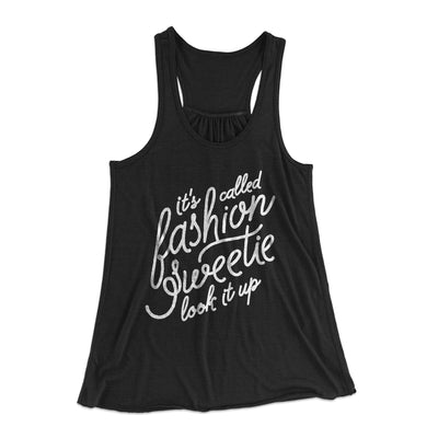 It's Called Fashion Sweetie Women's Flowey Racerback Tank Top-Black - Famous IRL