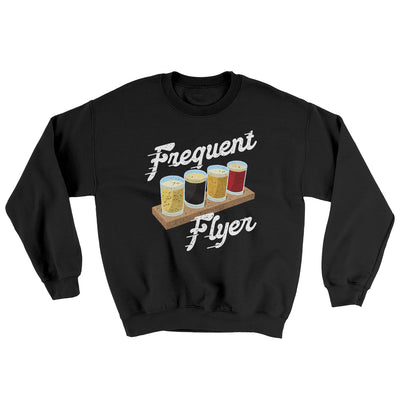 Frequent Flyer Ugly Sweater-Ugly Sweater-White Label DTG-Black-S-Famous IRL