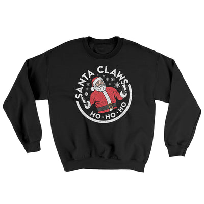Santa Claws Ugly Sweater-Ugly Sweater-White Label DTG-Black-S-Famous IRL