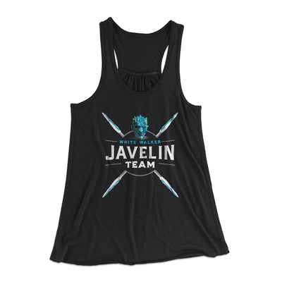 White Walker Javelin Team Women's Flowey Racerback Tank Top-Black - Famous IRL