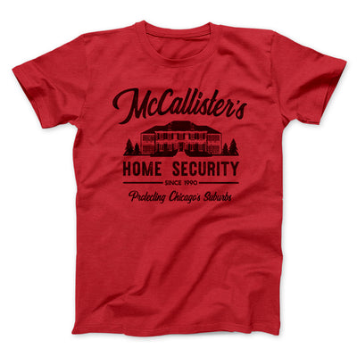 McCallister's Home Security Men/Unisex T-Shirt-Red - Famous IRL