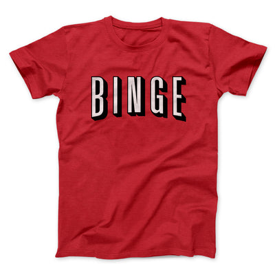 Binge Men/Unisex T-Shirt-Red - Famous IRL
