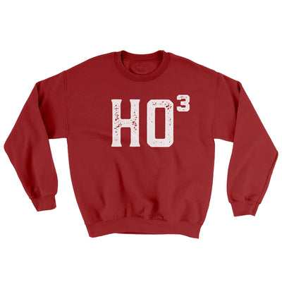 Ho Cubed Men/Unisex Ugly Sweater-Cardinal Red - Famous IRL
