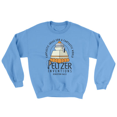 Peltzer Inventions Ugly Sweater-Ugly Sweater-White Label DTG-Carolina Blue-S-Famous IRL