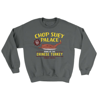 Chop Suey Palace Ugly Sweater-Charcoal - Famous IRL