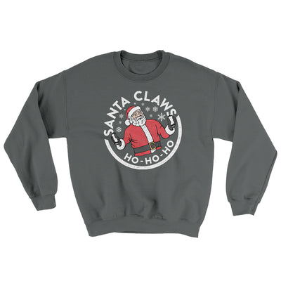 Santa Claws Ugly Sweater-Ugly Sweater-White Label DTG-Charcoal-S-Famous IRL