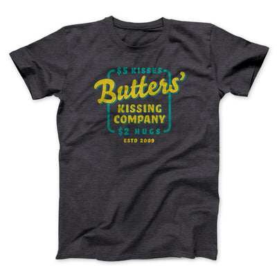 Butter's Kissing Company Men/Unisex T-Shirt-Men/Unisex T-Shirt-White Label DTG-Dark Grey Heather-S-Famous IRL