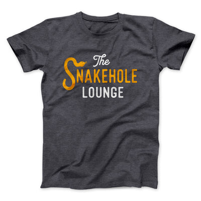 Snakehole Lounge Men/Unisex T-Shirt-Dark Grey Heather - Famous IRL
