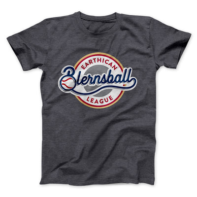 Earthican Blearnsball League Men/Unisex T-Shirt-Dark Grey Heather - Famous IRL
