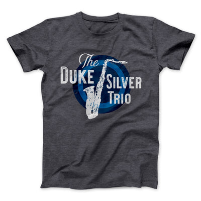 Duke Silver Trio Men/Unisex T-Shirt-Dark Grey Heather - Famous IRL