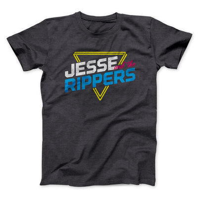 Jesse and the Rippers Men/Unisex T-Shirt-Dark Grey Heather - Famous IRL
