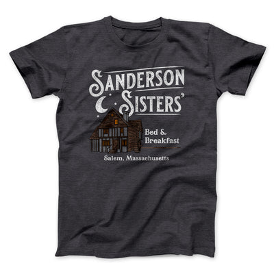 Sanderson Sisters' Bed & Breakfast Men/Unisex T-Shirt-T-Shirt-Printify-Dark Grey Heather-S-Famous IRL