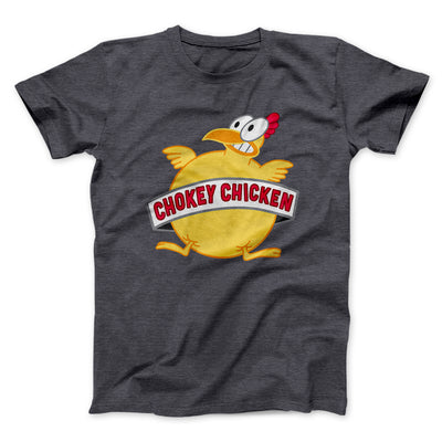 Chokey Chicken Men/Unisex T-Shirt-Dark Grey Heather - Famous IRL