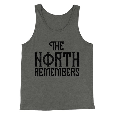 The North Remembers Men/Unisex Tank-Tank Top-Printify-Deep Heather-XS-Famous IRL
