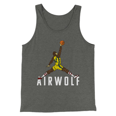 Air Wolf Men/Unisex Tank-Deep Heather - Famous IRL
