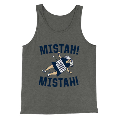 Mistah! Mistah! Men/Unisex Tank-Deep Heather - Famous IRL