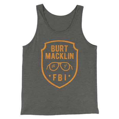Burt Macklin FBI Men/Unisex Tank-Deep Heather - Famous IRL
