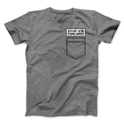 Assistant to the Regional Manager Men/Unisex T-Shirt-T-Shirt-Printify-Deep Heather-S-Famous IRL