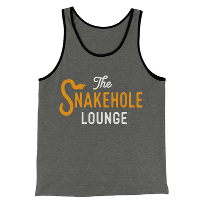 Snakehole Lounge Men/Unisex Tank-Deep Heather/Black - Famous IRL