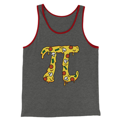 Pizza Pi Men/Unisex Tank-Deep Heather/Red - Famous IRL