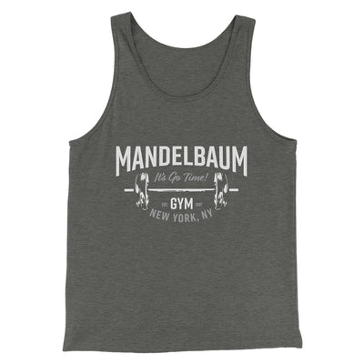 Mandelbaum Gym Men/Unisex Tank-Deep Heather - Famous IRL
