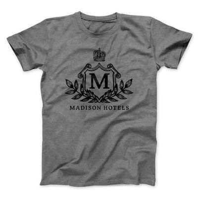 Madison Hotels Men/Unisex T-Shirt-T-Shirt-Printify-Deep Heather-S-Famous IRL