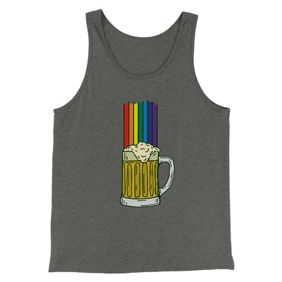 Beer Rainbow Men/Unisex Tank-Deep Heather - Famous IRL
