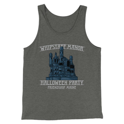 Whipstaff Manor Halloween Party Men/Unisex Tank-Tank Top-Printify-Deep Heather-S-Famous IRL
