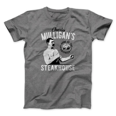 Charles Mulligan's Steakhouse Men/Unisex T-Shirt-Deep Heather - Famous IRL